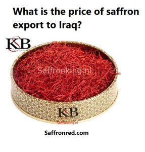 What is the price of saffron export to Iraq?